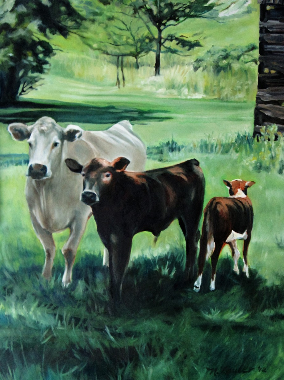 homestead-cows-40x30-oil-on-canvas-lauler